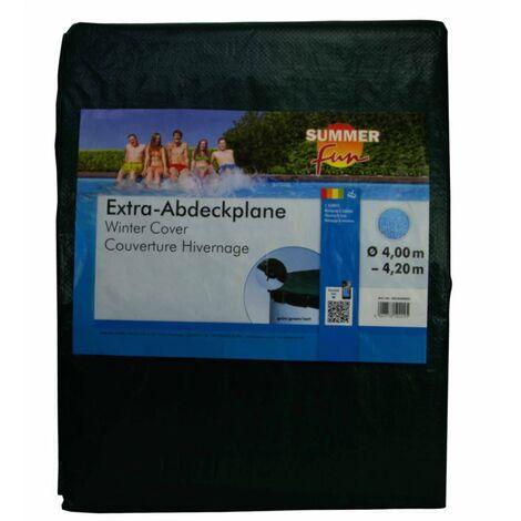 426462 Summer Fun Winter Pool Cover Round 400-420 cm PVC Green