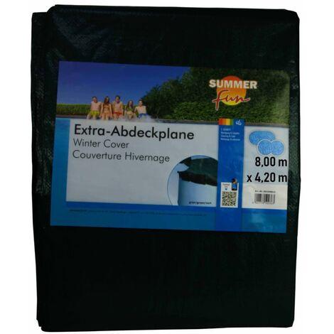 426464 Summer Fun Winter Pool Cover Oval 800 cm PVC Green