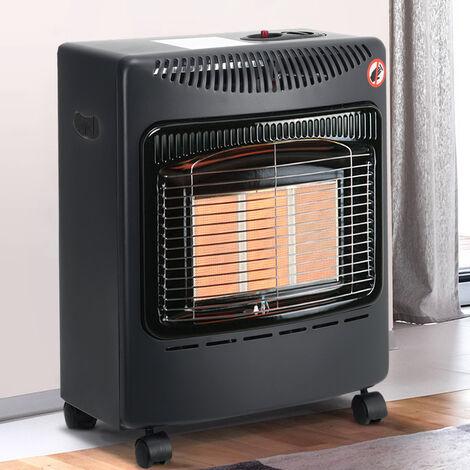 "main image of ""4.2kw Portable Indoor Heater Home Butane Calor Gas Heating with Regulator, Black"""