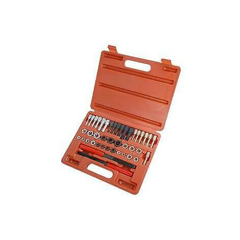 42pc Re-Thread Tool Kit Set UNC/UNF & Metric,Taps,Dies and Thread Files