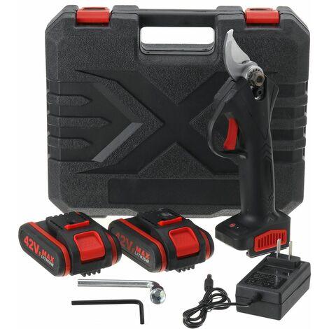 42V 30mm Sécateur electrique Rechargeable avec 2 Batterie 1500mAh