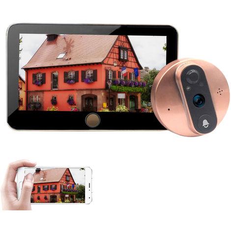4.3 '' WIFI Mirilla digital inteligente de la puerta de la camara Visor Monitor HD, la seguridad en casa