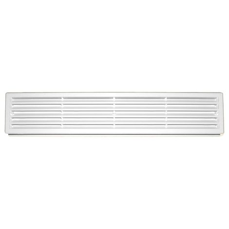 430x76mm White Internal Door Plastic Ventilation Grille Rectangle Air Vent