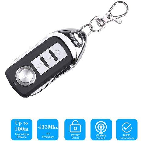 433 Mhz Sans Fil Clone Commutateur Clonage Copie 433Mhz Portail Electrique Ouvre-Porte De Garage Duplicateur De Commande Telecommande Portable Key Fob, Noir