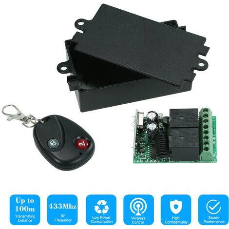 """main image of """"433Mhz DC 12V 2CH?Universal 10A Relay Wireless Remote Control Switch Receiver Module and 1PCS 2 Key RF 433 Mhz Transmitter Remote Controls 1527 Chip Smart Home Automation,model: 1"""""""