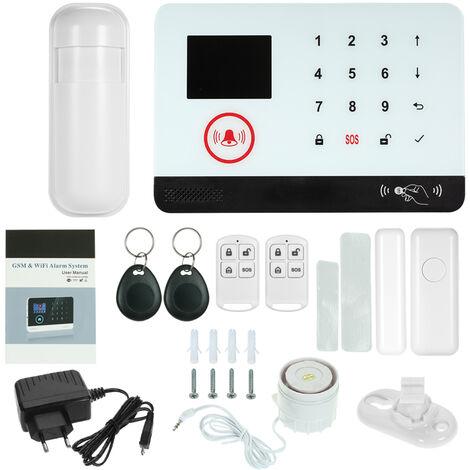 433MHz WIFI inalambrico + GSM SMS Sistema de seguridad de alarma de marcado automatico