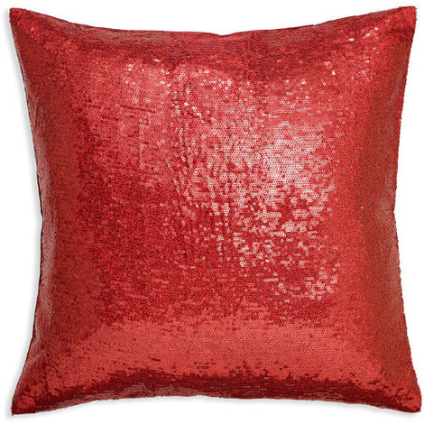 43x43cm Glitz Red Sequin Cushion 008336