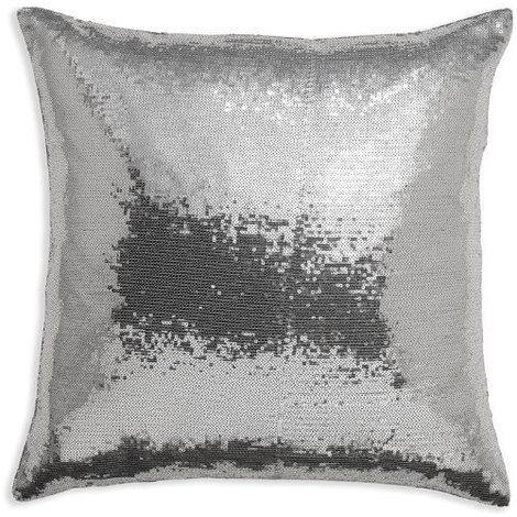43x43cm Glitz Silver Sequin Cushion 008337