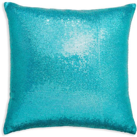 43x43cm Glitz Turquoise Sequin Cushion 008332