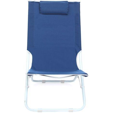441030 Tumbona plegable JOY SUMMER Textilene con cojín tubular 22 | Azul