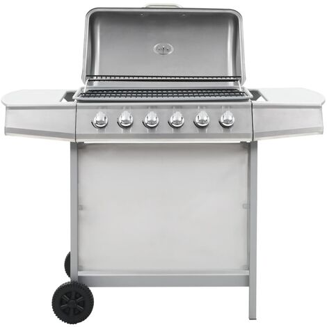 44283 Gas BBQ Grill with 6 Cooking Zones Stainless Steel Silver (AT/DE/CH only)