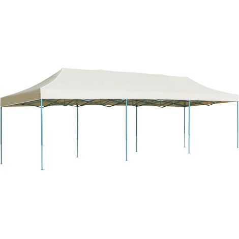 Folding Pop-up Party Tent 3x9 m Cream