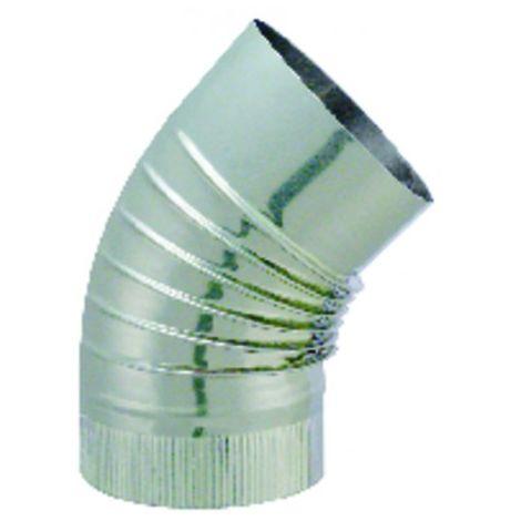45° elbow Ø139mm - ISOTIP JONCOUX : 032413