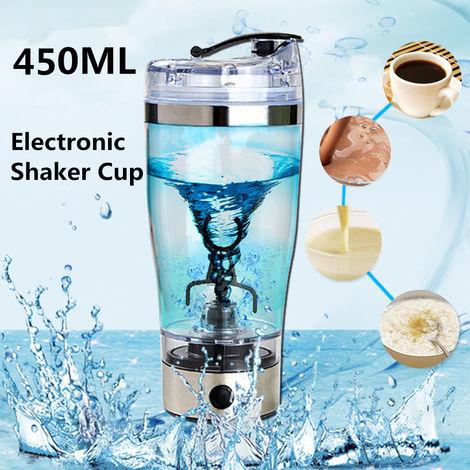 450ml Cargador USB Proteína Agitador Botella Mezclador eléctrico Vaso de mezcla Blende portátil Sasicare