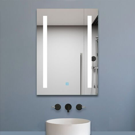 """main image of """"500x700mm Heated Bathroom Mirror with Touch Lights,Wall Mounted,IP44,Vertical or Horizontal"""""""