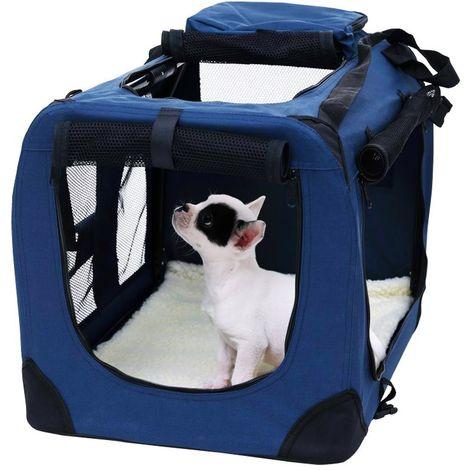 4564 Transportín para animales PROLABZOO plegable con tapete lavable