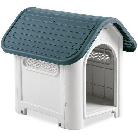 26f9894783419 4566 Caseta en forma de casa para perro PROLABZOO con toma de aire  59.2x66x63 cm