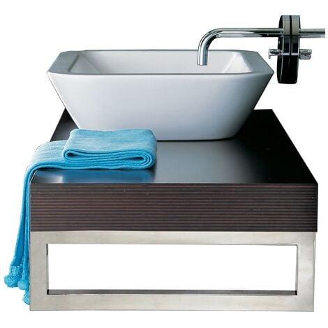 45CM Edelstahl Waschtischhalterung Waschbecken Waschtischkonsole Waschtischplatt