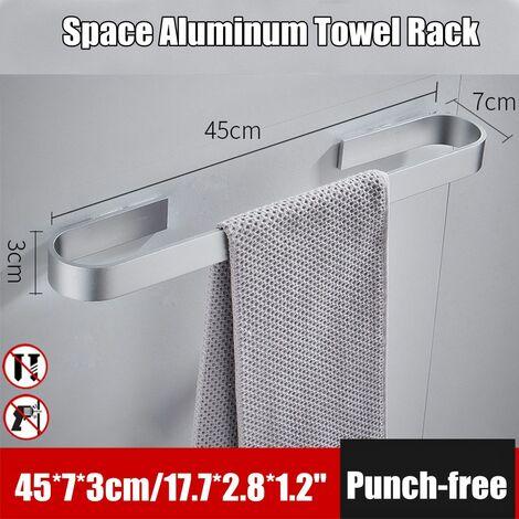 45cm single rod towel bar bathroom toilet bar shower