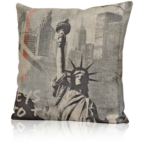 45cm Sofa Cushion Cover America Freedom Stature Designer Cushion Cover Deco Cushion