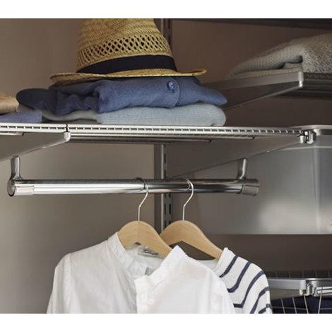 45cm x 40cm Elfa Ventilated Shelf (425748) - Platinum