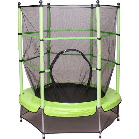 4.5FT Junior Kid Trampoline Safety Net & Skirt Kids Toddlers In/Outdoor 55Inch