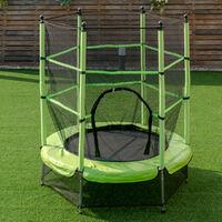 4.5FT Junior Kid Trampoline Safety Net & Skirt Kids Toddlers In/Outdoor 55Inch