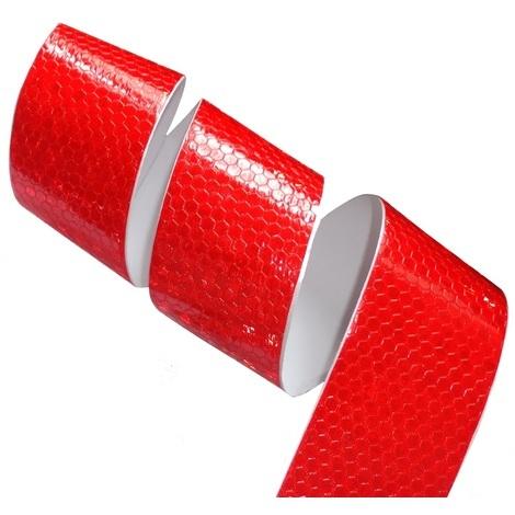 4.5m 5cm Bande rouge adhésive de marquage réfléchissante retroréfléchissante