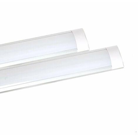 45W Prismatic LED Tube Batten complete fitting 1.2m, 4000 lumens, 4000K (pack of 2 units)