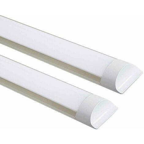 45W Prismatic LED Tube Batten complete fitting 1.2m, 4000 lumens, 6500K (pack of 2 units)