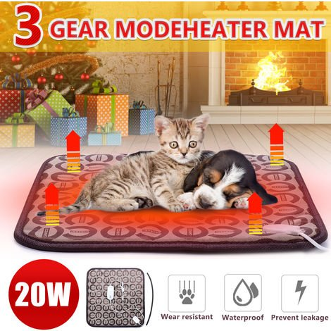 45X45Cm Dog Cat Electric Heating Pad Waterproof Wear Resistant Electric Blanket Winter Heating Mat For Pet Bed