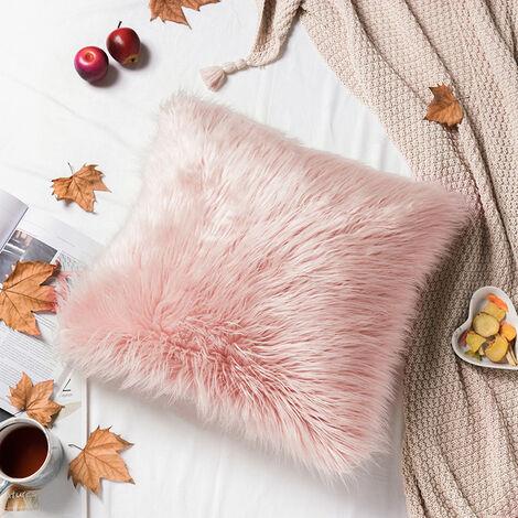 45x45CM Fluffy Faux Fur Plush Pillow Case Cover Shaggy Cushion Cover