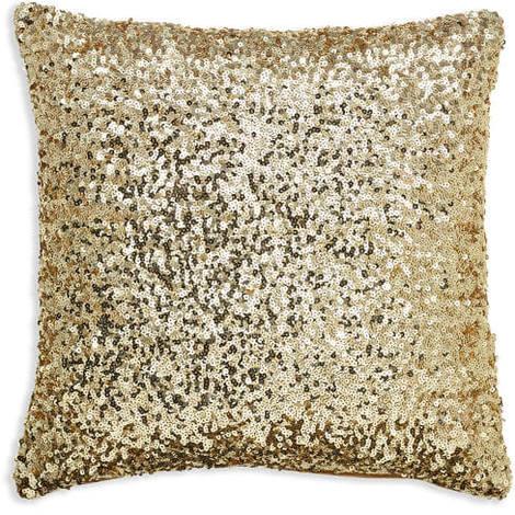 45x45cm Sparkle Gold Sequin Cushion 008330