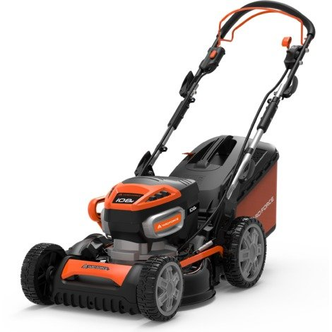 46cm Cordless Lawnmower with 108V Power Lithium-Ion Batteryby Yard Force