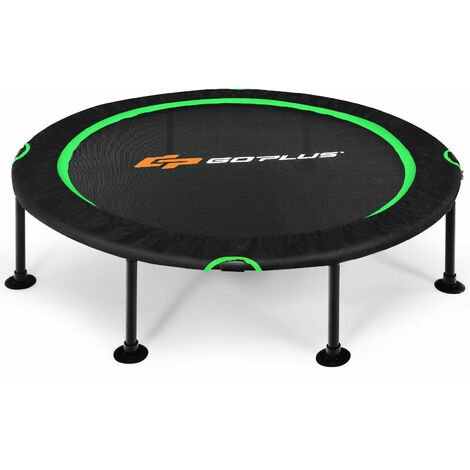 """main image of """"47\'\' Mini Trampoline Foldable Fitness Rebounder Safety Pads Durable Bungee Cords"""""""