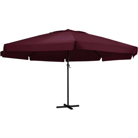 47374 Outdoor Parasol with Aluminium Pole 600 cm Bordeaux Red