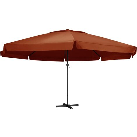 47375 Outdoor Parasol with Aluminium Pole 600 cm Terracotta