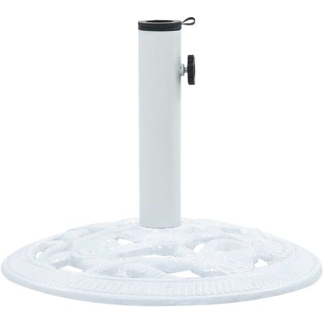 47864 Hommoo Umbrella Base White 9 kg 40 cm Cast Iron
