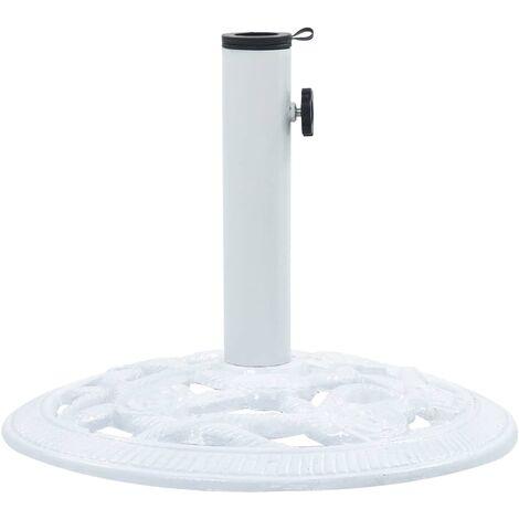 47864 Umbrella Base White 9 kg 40 cm Cast Iron
