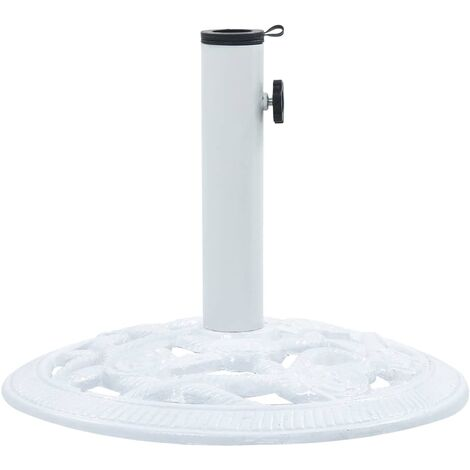 47864   Umbrella Base White 9 kg 40 cm Cast Iron