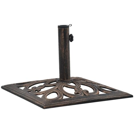 47868 Umbrella Base Bronze 12 kg 49 cm Cast Iron - Brown