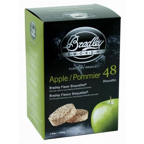 48 Pack Bradley Flavour Bisquettes - APPLE