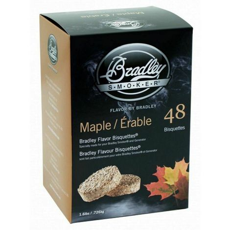 48 Pack Bradley Flavour Bisquettes - MAPLE