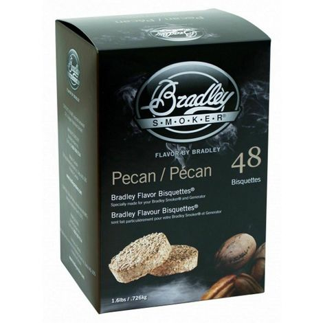 48 Pack Bradley Flavour Bisquettes - PECAN