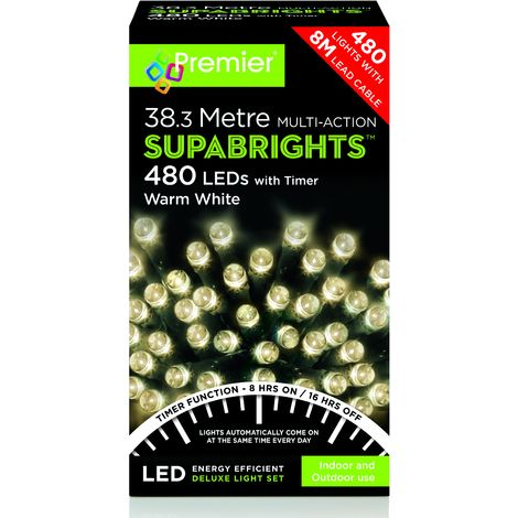 480 Multi Action LED Supabrights with Timer - Warm White