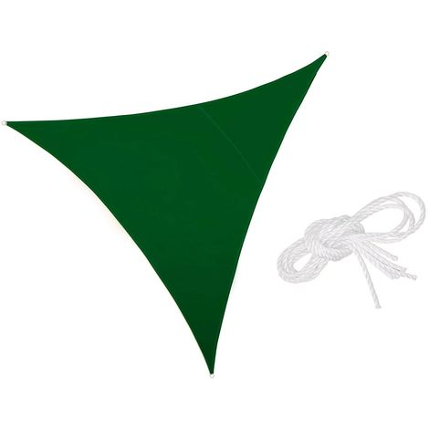 482360 Sombrilla Verde 3x3x3m con ganchos reforzados y cuerda de nylon