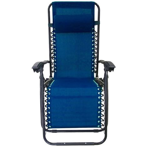 485330 Silla plegable AZUL EVERTOP reclinable GRAVITà ZERO