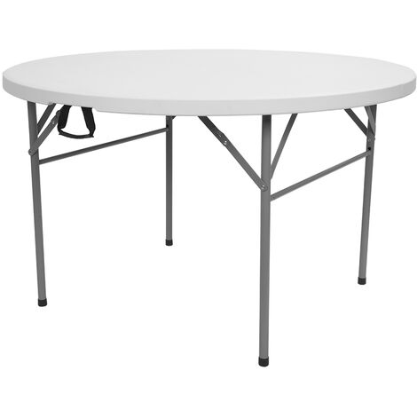 48inch Round Folding Table Outdoor Folding Utility Table White