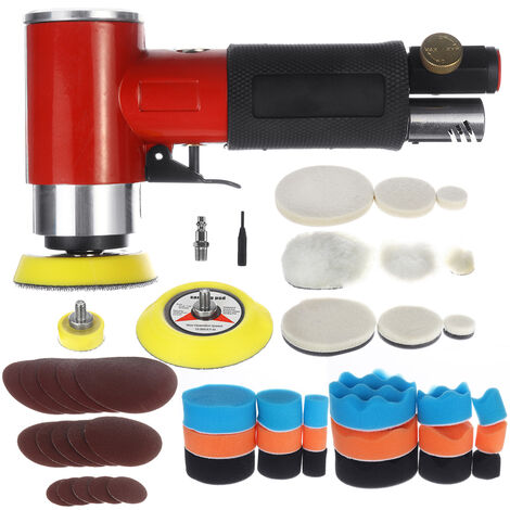 48Pcs Electric Car Polisher Air Angle Sander Handheld Auto Polishing Machine 15000rpm Car Polish Buffing Waxing Tools Auto Care