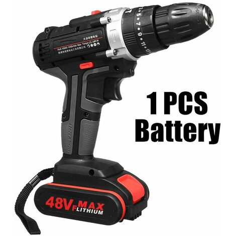 48V Electric Hammer Cordless Drill Drill Rechargeable Woodworking Tool LAVENTE